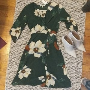 Monteau Green Floral Dress